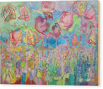 The Rose Garden, Love Wins Wood Print by Kimberly Santini