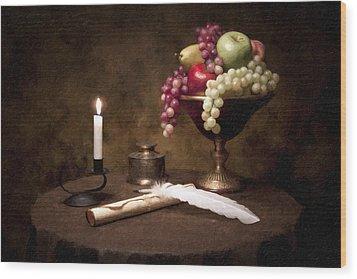 The Scribe Wood Print by Tom Mc Nemar