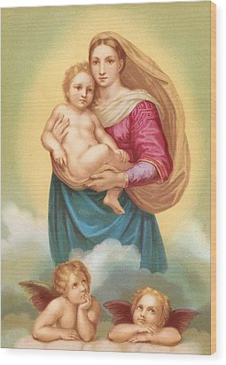 The Sistine Madonna Wood Print by Raphael