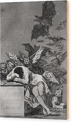 The Sleep Of Reason Produces Monsters Wood Print by Goya