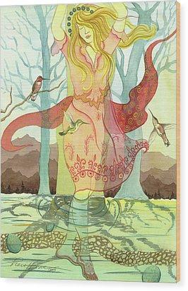 The Source Wood Print by Sheri Howe