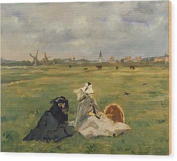 The Swallows Wood Print by Edouard Manet