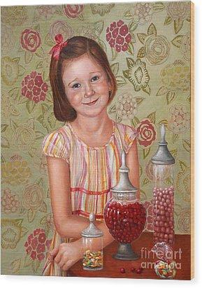 The Sweet Sneak Wood Print by Enzie Shahmiri