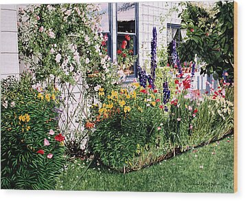 The Tangled Garden Wood Print by David Lloyd Glover