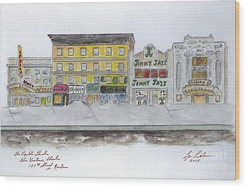 Theatre's Of Harlem's 125th Street Wood Print by AFineLyne