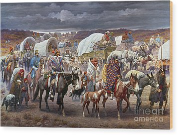 The Trail Of Tears Wood Print by Granger