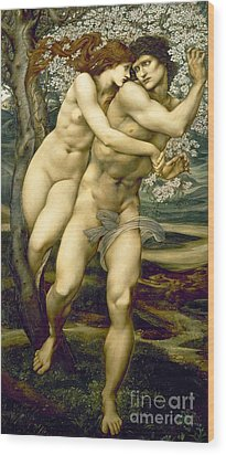 The Tree Of Forgiveness Wood Print by Sir Edward Burne-Jones