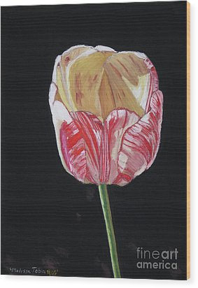 The Tulip Wood Print by Melissa Tobia