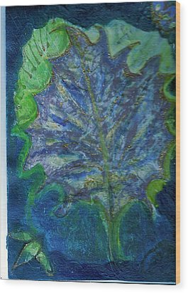 The Underside Of The Autumn Leaf Wood Print by Anne-Elizabeth Whiteway