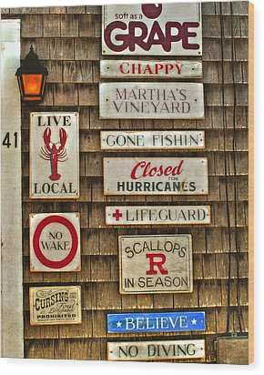 The Vineyard Wood Print by Joann Vitali