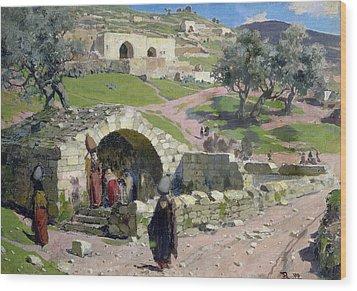 The Virgin Spring In Nazareth Wood Print by Vasilij Dmitrievich Polenov