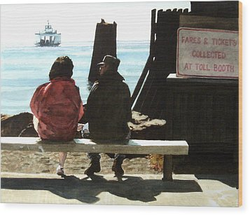 The Walk-ons Wood Print by Perry Woodfin