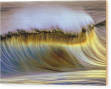 The Wave Wood Print by Zarija Pavikevik
