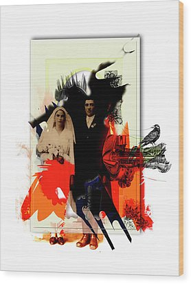 The Wedding Picture Wood Print by Aniko Hencz