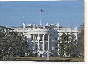 The White House - 1600 Pennsylvania Avenue Washington Dc Wood Print by Brendan Reals