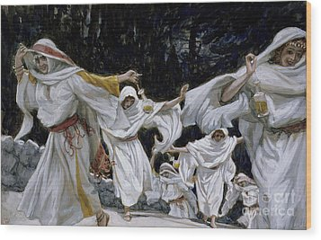 The Wise Virgins Wood Print by Tissot