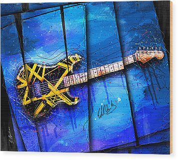 The Yellow Jacket Wood Print by Gary Bodnar