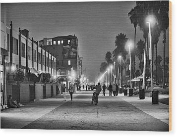 This Is California No. 11 - Venice Beach Biker Wood Print by Paul W Sharpe Aka Wizard of Wonders
