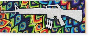 This Is My Rifle Wood Print by Veronika Rose