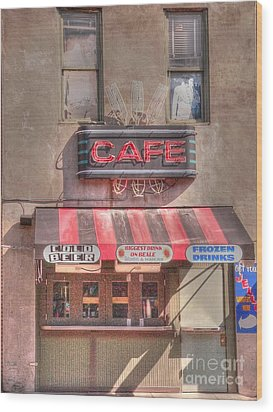 Three Forks Cafe Wood Print by David Bearden