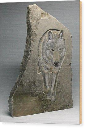 Through The Mist Wood Print by Ken Hall