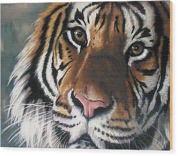 Tigger Wood Print by Barbara Keith