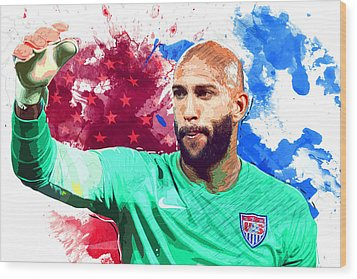 Tim Howard Wood Print by Semih Yurdabak