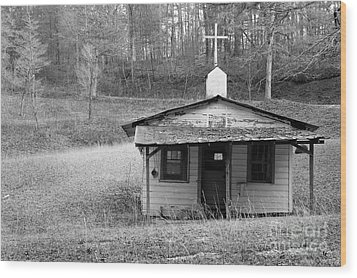 Tiny Church Wood Print by Arni Katz