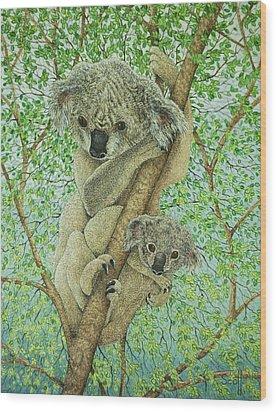 Top Of The Tree Wood Print by Pat Scott