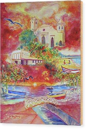 Tour Around Aguadilla Puerto Rico Wood Print by Estela Robles