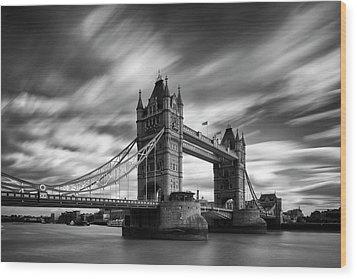 Tower Bridge, River Thames, London, England, Uk Wood Print by Jason Friend Photography Ltd