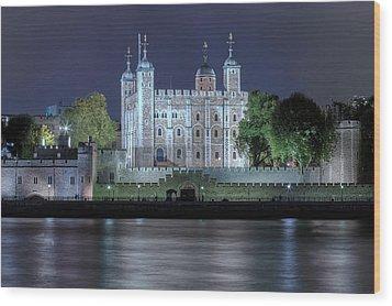 Tower Of London Wood Print by Joana Kruse