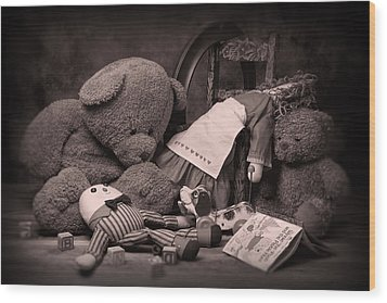 Toys Wood Print by Tom Mc Nemar