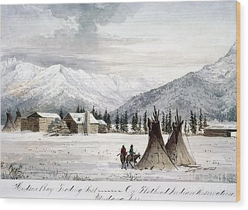 Trading Outpost, C1860 Wood Print by Granger