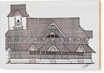 traditional Kerala house Wood Print by Farah Faizal