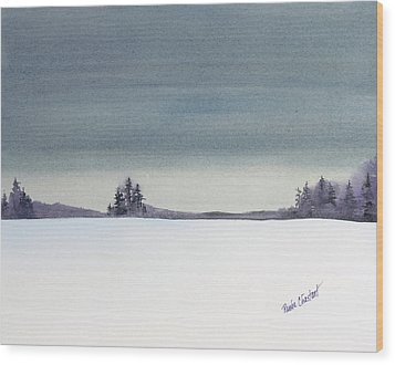 Tranquil Night Wood Print by Renee Chastant