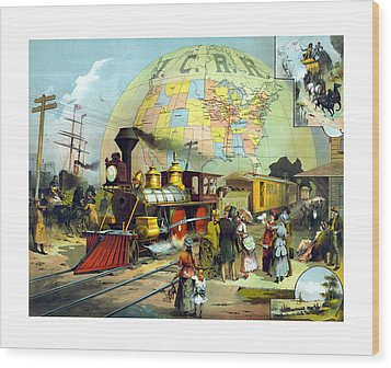 Transcontinental Railroad Wood Print by War Is Hell Store
