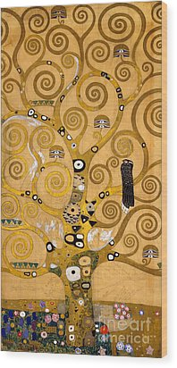Tree Of Life Wood Print by Gustav Klimt