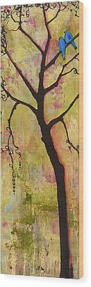 Tree Print Triptych Section 1 Wood Print by Blenda Studio