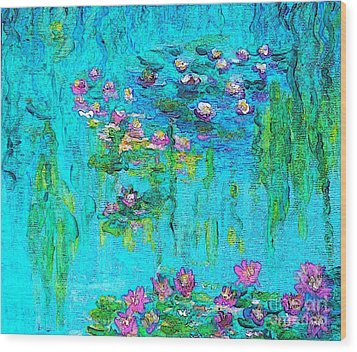 Tribute To Monet Wood Print by Holly Martinson