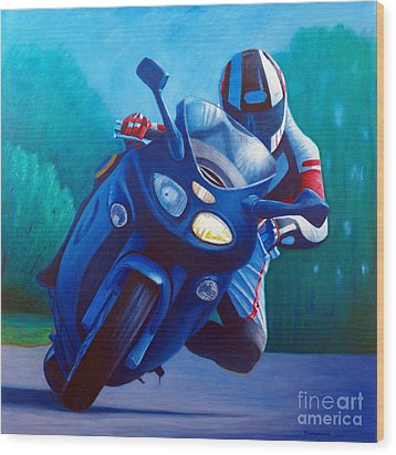 Triumph Sprint - Franklin Canyon  Wood Print by Brian  Commerford