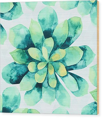 Tropical Flower  Wood Print by Mark Ashkenazi