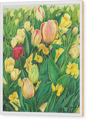 Tulips From Amsterdam Wood Print by Jeanette Schumacher