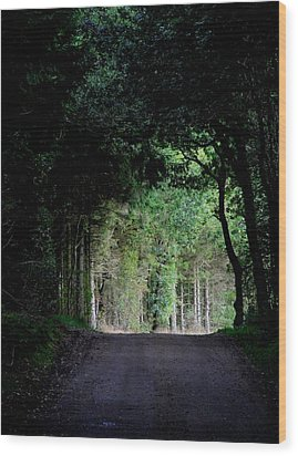 Tunnel Vision Wood Print by Odd Jeppesen