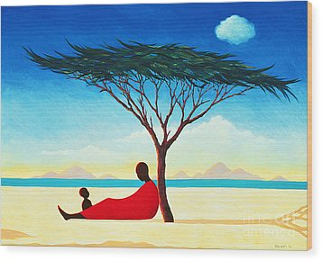 Turkana Afternoon Wood Print by Tilly Willis