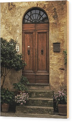 Tuscan Entrance Wood Print by Andrew Soundarajan