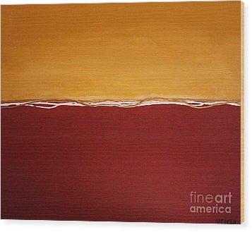 Tuscan Sunrise Wood Print by Marsha Heiken