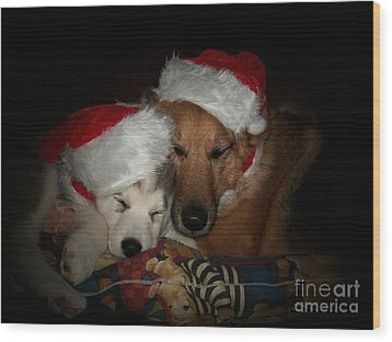 Twas The Night Before Christmas Wood Print by Marjorie Imbeau