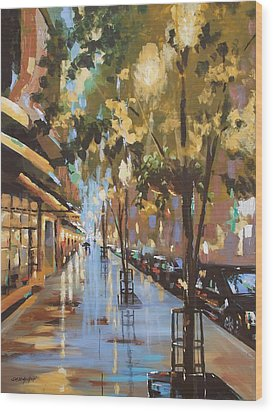 Twenty One East Hubbard Street Chicago Wood Print by Sandra Strohschein