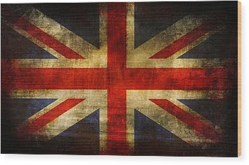 Uk Flag Wood Print by Brett Pfister
